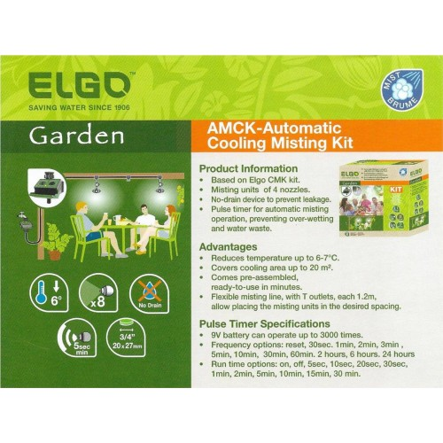 Automatic Cooling Misting Kit CMK ELGO